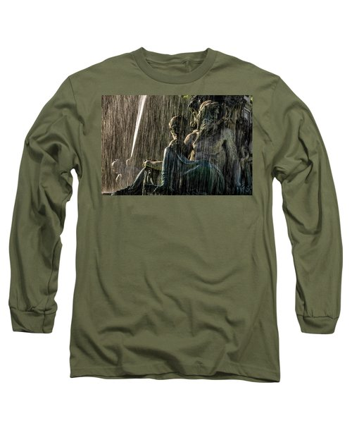 Fountain At Rossio Square Long Sleeve T-Shirt
