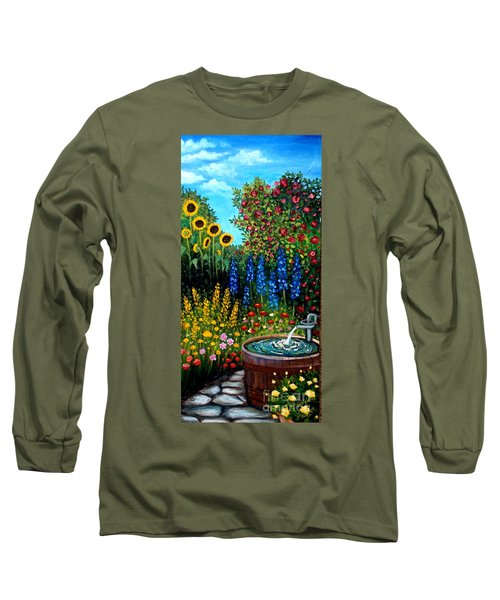 Fountain Of Flowers Long Sleeve T-Shirt