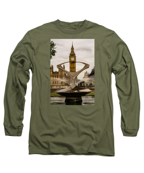 Fountain With Big Ben Long Sleeve T-Shirt