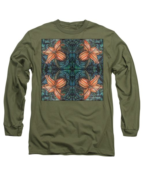 Four Lilies Leaf To Leaf Long Sleeve T-Shirt