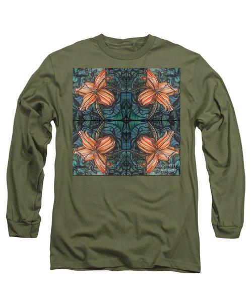 Four Lilies Leaf To Leaf Long Sleeve T-Shirt