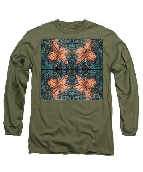 Four Lilies Looking In Long Sleeve T-Shirt