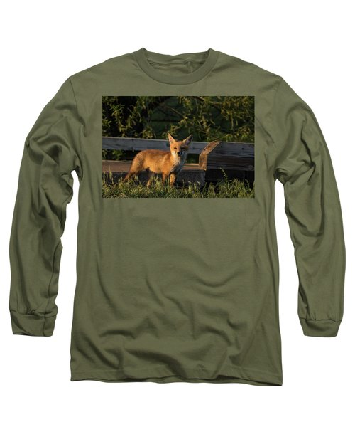 Long Sleeve T-Shirt featuring the photograph Fox 2 by Jay Stockhaus