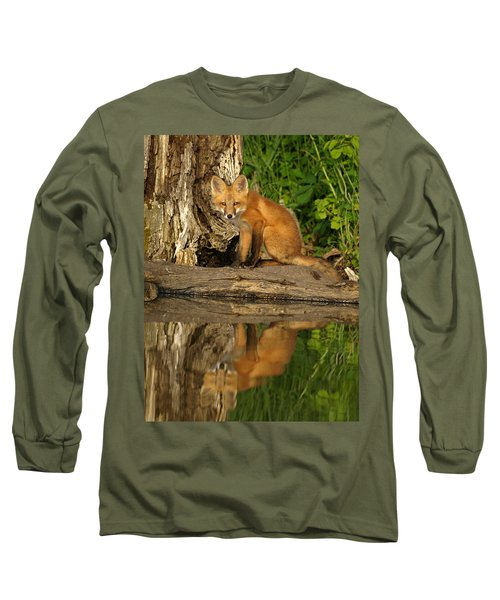 Fox Reflection Long Sleeve T-Shirt by James Peterson