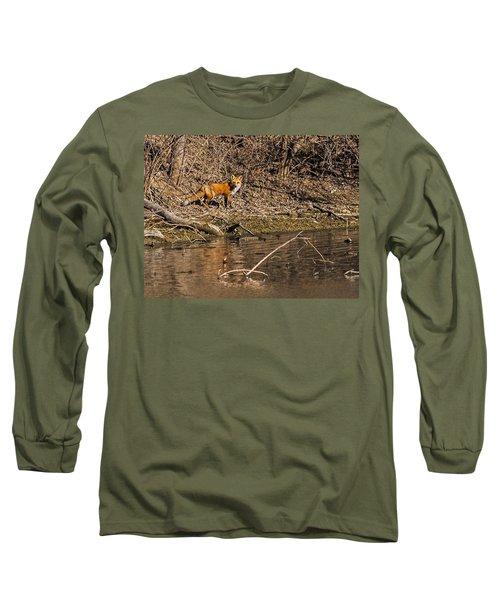 Fox Walk Long Sleeve T-Shirt by Edward Peterson