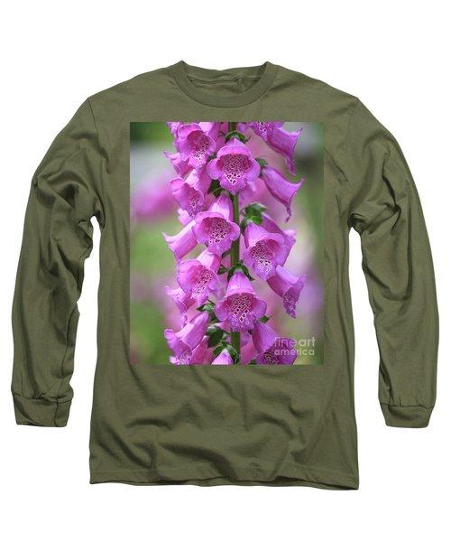 Long Sleeve T-Shirt featuring the photograph Foxglove Flowers by Edward Fielding