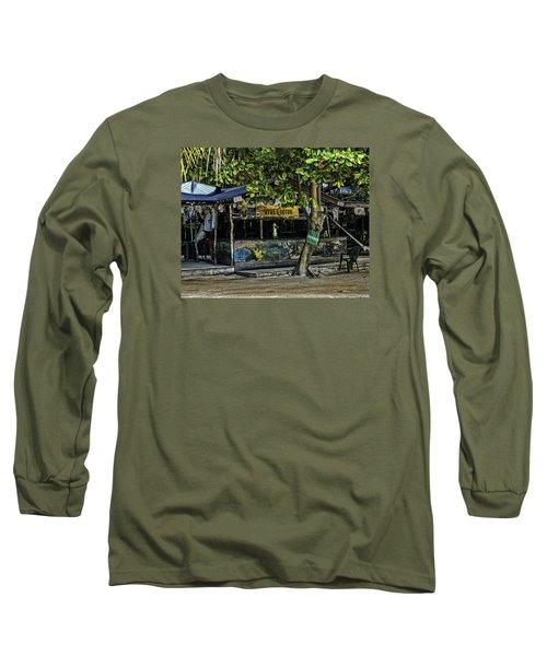 Foxy's On Jost Van Dyke Long Sleeve T-Shirt by Gordon Engebretson