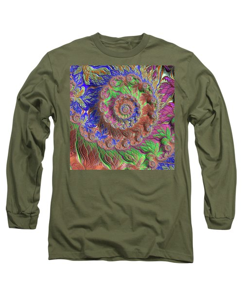 Fractal Garden Long Sleeve T-Shirt by Bonnie Bruno