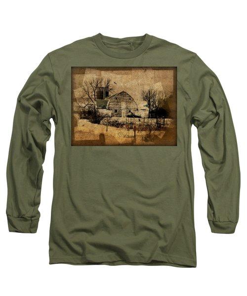 Fragmented Barn  Long Sleeve T-Shirt