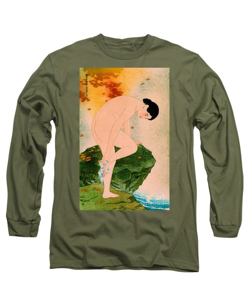 Fragrant Bath 1930 Long Sleeve T-Shirt by Padre Art