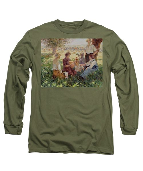 France Country Life  Long Sleeve T-Shirt by Pierre Van Dijk
