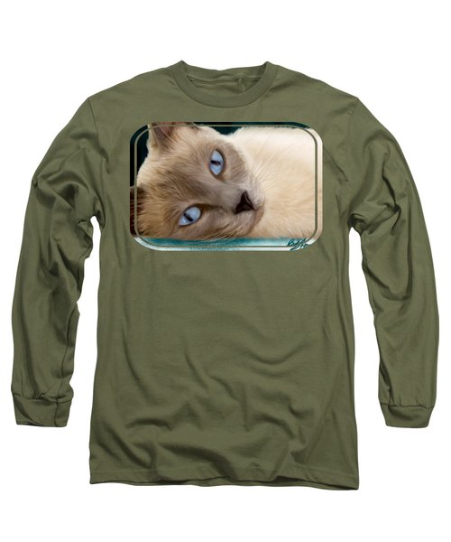 Frankie Blue Eyes Long Sleeve T-Shirt