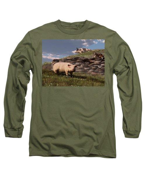 Free Range Pigs Long Sleeve T-Shirt