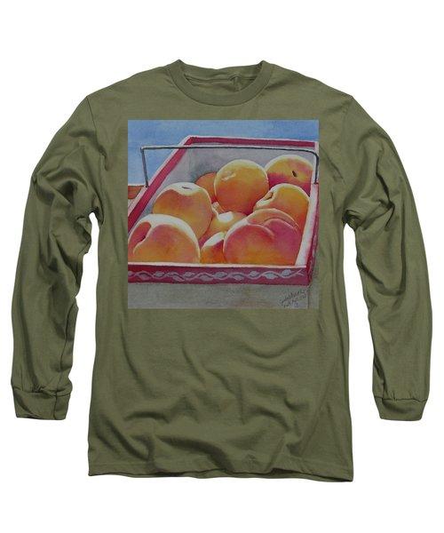 Fresh Peaches Long Sleeve T-Shirt by Judy Mercer