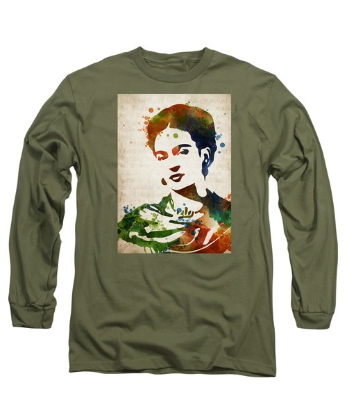Frida Kahlo Long Sleeve T-Shirt by Mihaela Pater