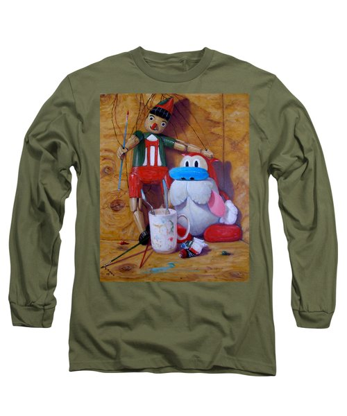 Friends 2  -  Pinocchio And Stimpy   Long Sleeve T-Shirt