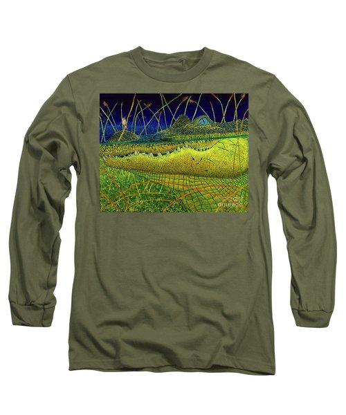Swamp Gathering Long Sleeve T-Shirt by David Joyner