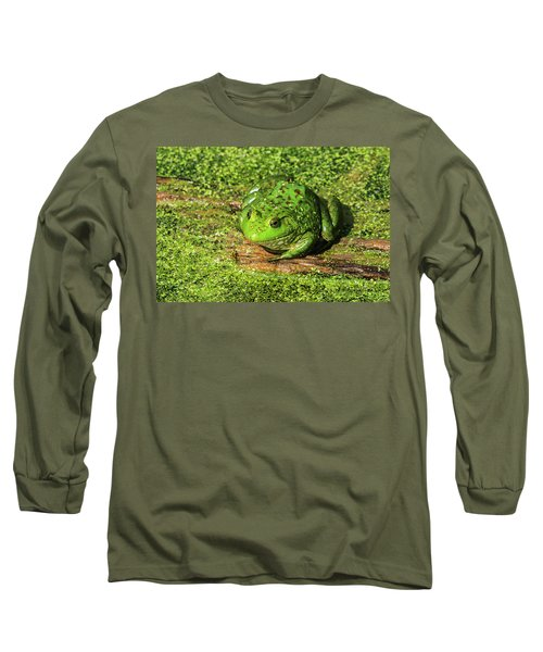 Frog And Duck Weed Long Sleeve T-Shirt by Edward Peterson