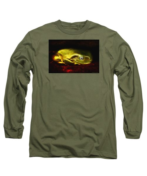 Long Sleeve T-Shirt featuring the photograph Frog Art 01 by Kevin Chippindall