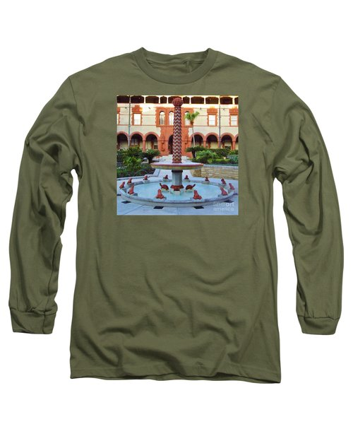 Frog Fountain Long Sleeve T-Shirt