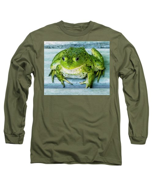 Frog Portrait Long Sleeve T-Shirt by Edward Peterson