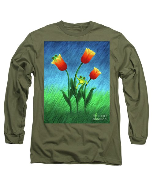Froggy Tulips Long Sleeve T-Shirt