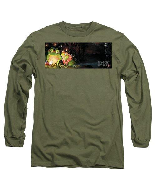 Frogs At Silver Lake Long Sleeve T-Shirt