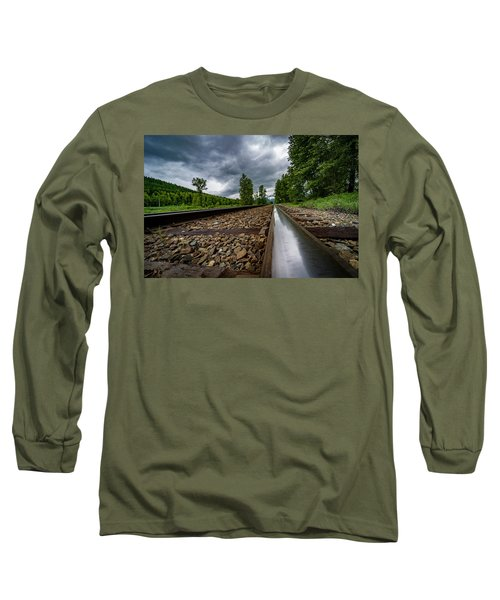 Long Sleeve T-Shirt featuring the photograph From The Track by Darcy Michaelchuk