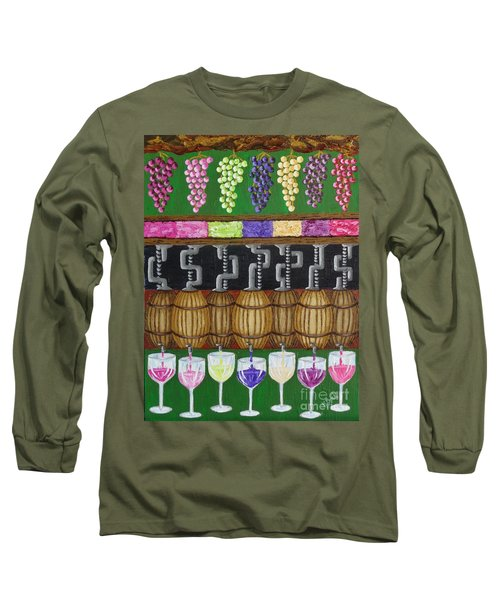 Long Sleeve T-Shirt featuring the painting From Vine To Wine by Katherine Young-Beck