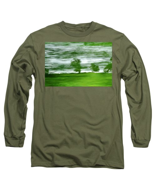 Long Sleeve T-Shirt featuring the photograph heading north of Yorkshire to Lake District - UK 2 by Dubi Roman