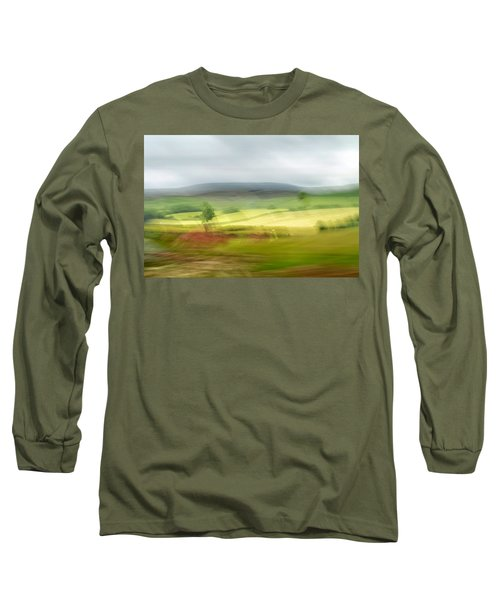 Long Sleeve T-Shirt featuring the photograph heading north of Yorkshire to Lake District - UK 1 by Dubi Roman