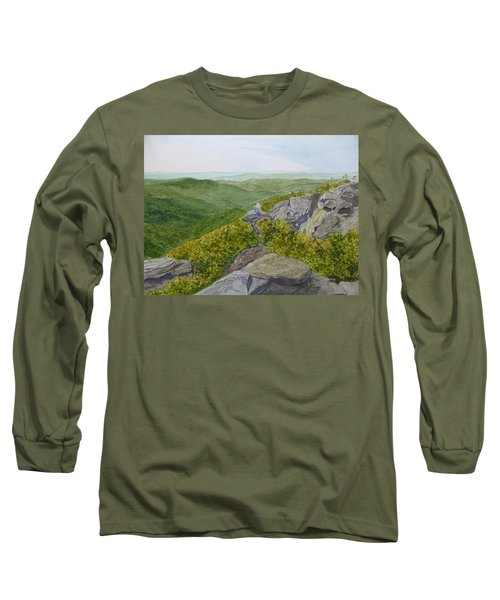 Long Sleeve T-Shirt featuring the painting Front Row Seats by Joel Deutsch