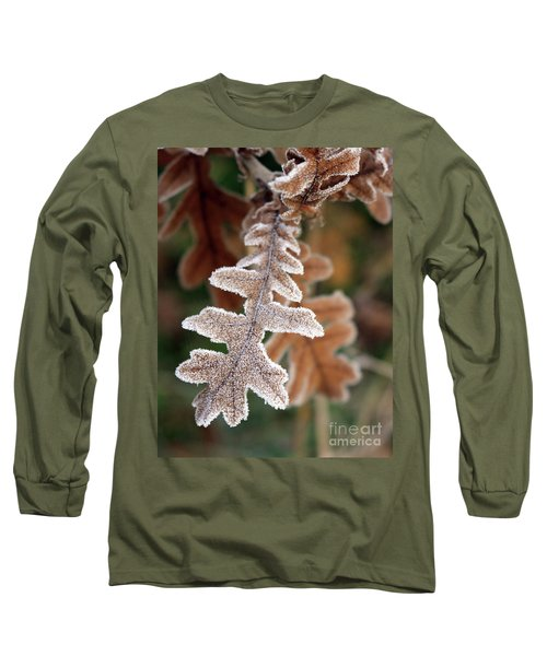 Frost Covered Oak Leaf Long Sleeve T-Shirt