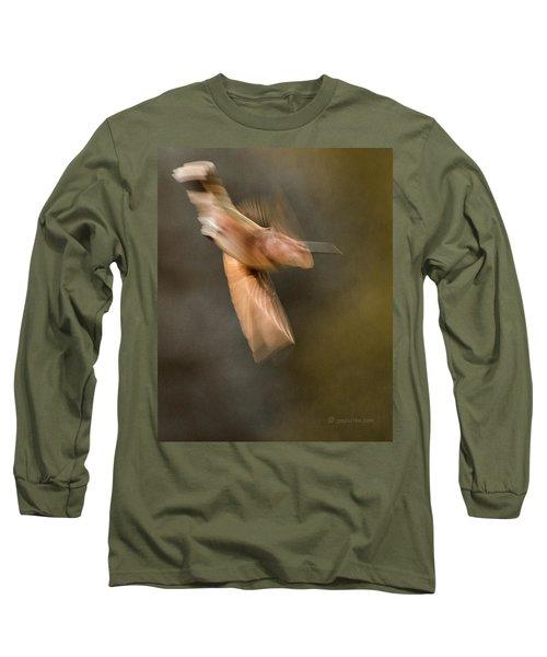 ...frozen Flight Hummingbird.... Long Sleeve T-Shirt