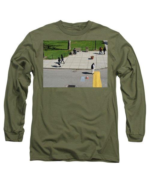 Frozen Lines Long Sleeve T-Shirt by Jose Rojas