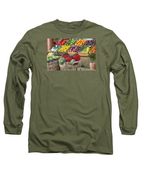 Fruit And Veggie Display Long Sleeve T-Shirt