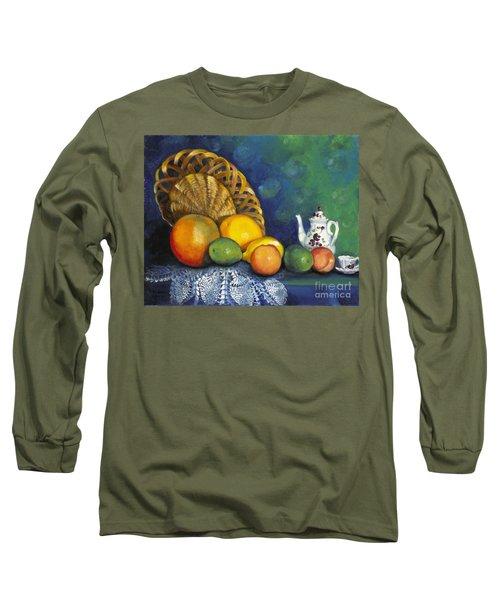 Fruit On Doily Long Sleeve T-Shirt