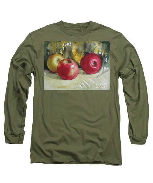 Long Sleeve T-Shirt featuring the painting Fruits Of The Earth by Elena Oleniuc