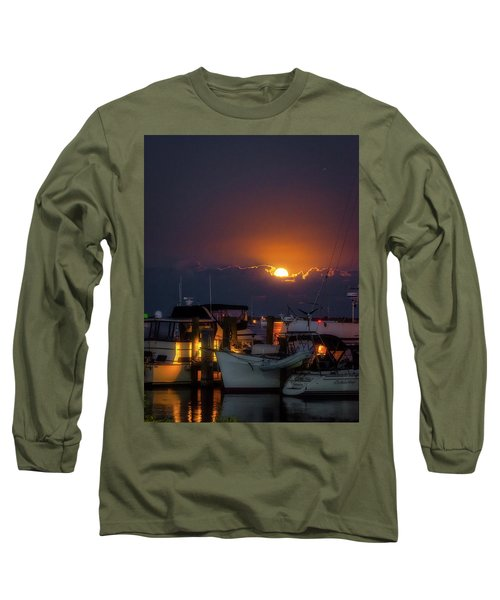 Full Moon At Titusville Long Sleeve T-Shirt