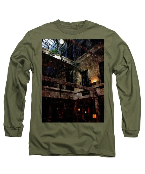 Full Moon At Tremont Toujouse Bar Long Sleeve T-Shirt by Karl Reid