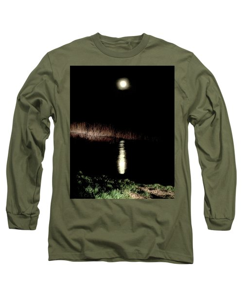 Full Moon Over Piermont Creek Long Sleeve T-Shirt