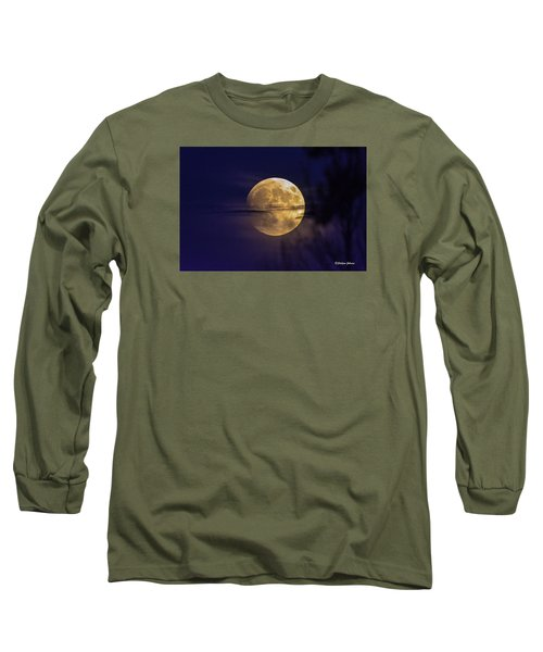 Full Moon Rise  Long Sleeve T-Shirt by Stephen  Johnson