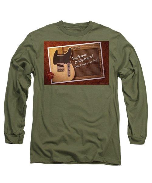 Long Sleeve T-Shirt featuring the digital art Fullerton Postcard by WB Johnston