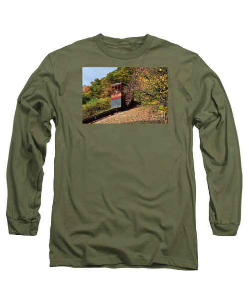 Funicular Descending Long Sleeve T-Shirt by Cindy Manero