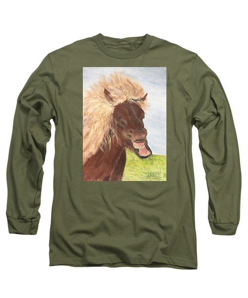 Funny Iceland Horse Long Sleeve T-Shirt