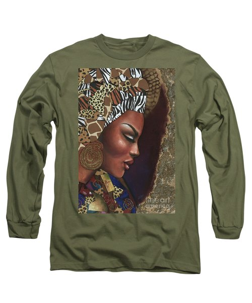 Long Sleeve T-Shirt featuring the mixed media Further Contemplation by Alga Washington