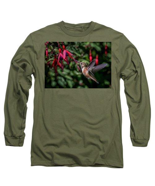 Fuschia Long Sleeve T-Shirt by Randy Hall