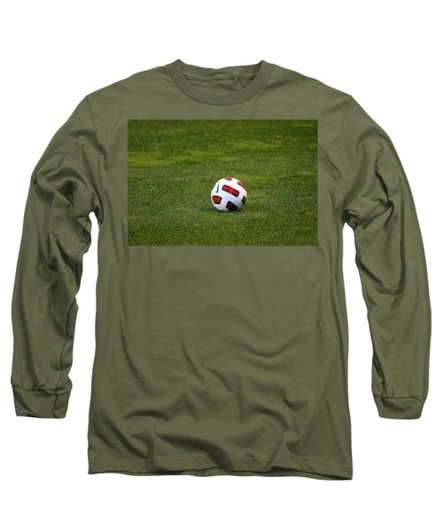 Long Sleeve T-Shirt featuring the photograph Futbol by Laddie Halupa