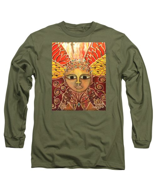Gaia - Mother Earth  Long Sleeve T-Shirt by Corina  Stupu Thomas