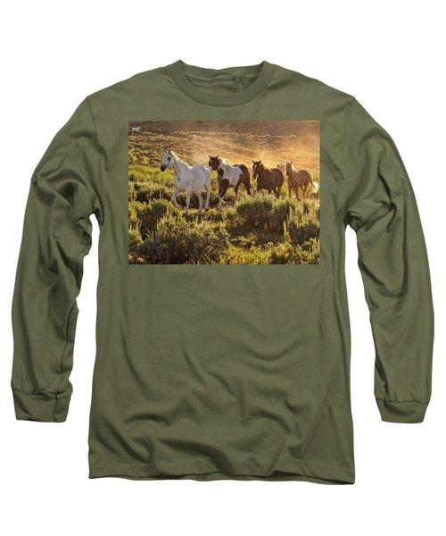Galloping Down The Mountain Long Sleeve T-Shirt